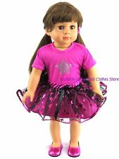 Metallic Star Studded Skirt Set Doll Clothes Made For 18 in American Girl Doll