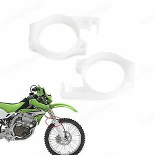 New White Front Fork Guide Cover for Kawasaki KLX650 1993-1996 KLX250 2006-2007