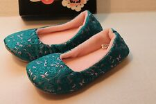 Isa Bella Women's Size S 5 - 6 Ciccia Isa Bella Jade Green & Pink Slippers Shoes