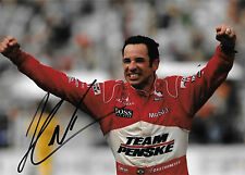 Heilo Castro Neves SIGNED Team Penske Portrait , Indianapolis 2008 Win