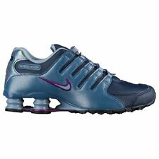 NIKE Shox NZ Women's Running Shoes Size 8 Navy Grey Purple - 636088 400