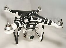 DJI Phantom 3 Full body Carbon Fiber Skin Graphic Wrap Decal P3 Adv Pro Stand