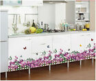 Butterfly Fence Flower Wall Sticker Mural Decals Removable PVC Mural Home Art Lz