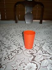 Vintage Hazel Atlas Rainbow Juice Glass - Fired on Orange Color