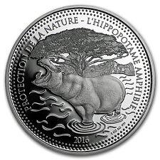 2016 Republic of Chad 1 oz Silver Protection De La Nature Hippo - SKU #95621