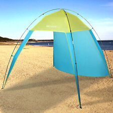 5-6 Person Beach Canopy Sun Shade Triangle Patchwork Tent Shelter Pop Up Tent US