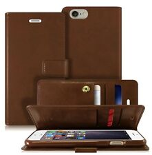 Double Flip book Leather Wallet Case Cover for iPhone / Galaxy S / Note / LG