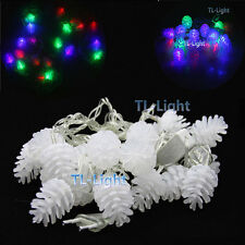 Pine Cone 5M RGB LED Fairy String Light 20LEDs for Party Christmas Wedding Decor