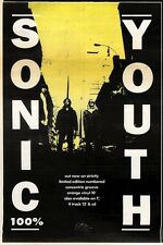 """11/7/92PGN04 SONIC YOUTH : 100% SINGLE ADVERT 10X7"""""""