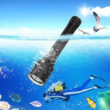 3x XPE MORADO UV LED Submarino 100m Scuba Diving Buceo linterna antorcha 2x18650