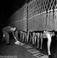 Ankle competition upskirt 1950s  8 x 8 Photograph
