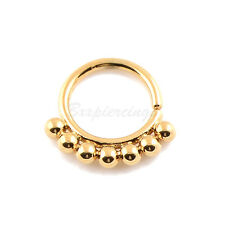 "1pc 1.4mm Gauge 5/16""(8mm) Brass SEPTUM Clicker DAITH Ring Retainer Spacer Hoop"