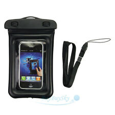 Waterproof Cell Phone Digital Camera Under Water Case Pouch Dry Bag Black