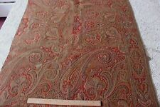 Antique c1860-1870 Woven Paisley Partial Shawl Textile Fabric~Christmas Projects