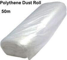 Rollo de Polvo Polietileno Sábana 2M X 50M cubierta de polvo de plástico de hoja de decoración nuevo U294