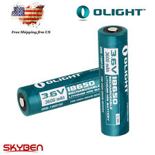 US Stock! Olight 18650 3600mAh 3.7V Li-ion Rechargeable Battery*2 Samsung Cell