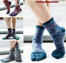 5 pairs men's socks pure cotton sports five finger socks toe socks p12