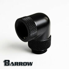 "Barrow G1/4"" Matte Black 90 Degree Double Rotary Fitting Water Cooling -001"