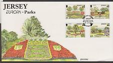 GB - JERSEY 1999 Europa '99 Jersey Parks & Gardens SG 899/902 FDC TREES