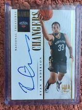 #2/10 (ONLY 10) 2013-14 NATIONAL TREASURES GOLD AUTO AUTOGRAPH RYAN ANDERSON