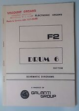 Original Galanti F2 Drum 6  Electronic Organ Schematic Diagrams