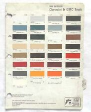 1986 CHEVROLET AND GMC TRUCK R-M COLOR PAINT CHIP CHART ALL MODELS ORIGINAL