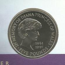 Uncirculated 1999 Princess Diana £5 coin on memorial cover