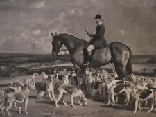 Vintage Munnings Book Plate Print Equestrian Sporting Art 1937 Horses English