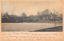 1905 Tennis ? Courts Country Club Nyack NY Rockland county post card