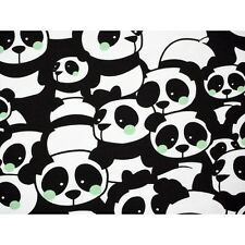 Printed Stretch Jersey Knit Fabric -Pandas 92% Cotton 8% Elastane HalfMetre