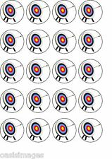 Archery  20 x edible cup cake toppers party