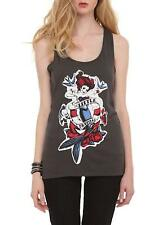 S~THE LITTLE MERMAID~movie~ARIEL~rockabilly~SPARROWS~punk~TATTOO~TANK TOP~shirt