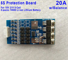 20A 5S 18V 21V 18650 Li-ion lithium Battery PCB Protection Board Balance Circuit