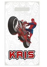 SPIDERMAN BAG TAG Personalized NAME Info Custom For Luggage Backpacks Super Hero