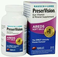 Bausch Lomb PreserVision Eye Supplement Areds 120 Softgels No box