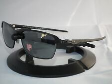 OAKLEY POLARIZED TINFOIL CARBON FIBER SUNGLASSES OO6018-02 SATIN /BLACK IRIDIUM