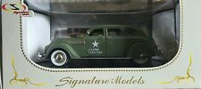 1936 CHRYSLER AIRFLOW ARMY GREEN 1:32 DIECAST CAR MODEL  SIGNATURE MODELS 32519