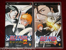 *Complete* PSP Games BLEACH HEAT THE SOUL 2 + 4 Japan Import