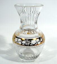 Vase Blumenvase Bleikristallglas geschliffen Golddekor