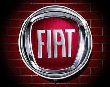 Fiat led 600mm éclairage mur lumière voiture badge garage signe logo man cave