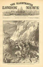 Arms & Ammo For The Servian Army, From Belgrade To HQ. Vintage 1876 Art Print