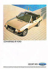 PUBLICITE  1983   FORD ESCORT  CONVERTIBLE   coupé XR3i