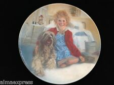 1982 William Chambers EDWIN M. KNOWLES Collectors Plate ANNIE & SANDY
