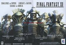 "Final Fantasy XII ""PS2"" 2007 Magazine 2 Page Advert #5015"