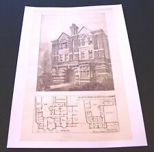 Dessins pour la nouvelle aile-rugby school-architectural drawing - 1895