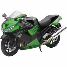 NIB New-Ray 2011 Kawasaki ZX14 green motorcycle 1:12 diecast model toy