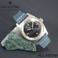NOS 1960's AQUASTAR 'Grand'Air' 100m Dress Dive Watch AS Cal. 1802 SN# 505061