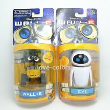 Lot 2 pcs New in Box Disney Pixar Wall-E and Eee-Vah EVE Mini Action Figures Set