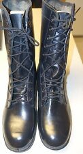 NEW 1980s U.S. Army Issue Military Combat Boots Black Leather Size 9 1/2R