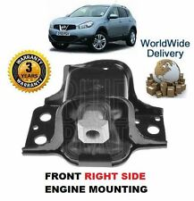 FOR NISSAN QASHQAI 1.6i 12/2006-3/2014 NEW FRONT RIGHT SIDE ENGINE MOUNTING